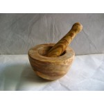Olive wood mortar 7-8 cm in diameter