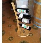 Chestnut barrel stave bottle holder