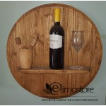 Oak Wood Wine Barrels - Wine Barrel Head Bottle-Glass Display