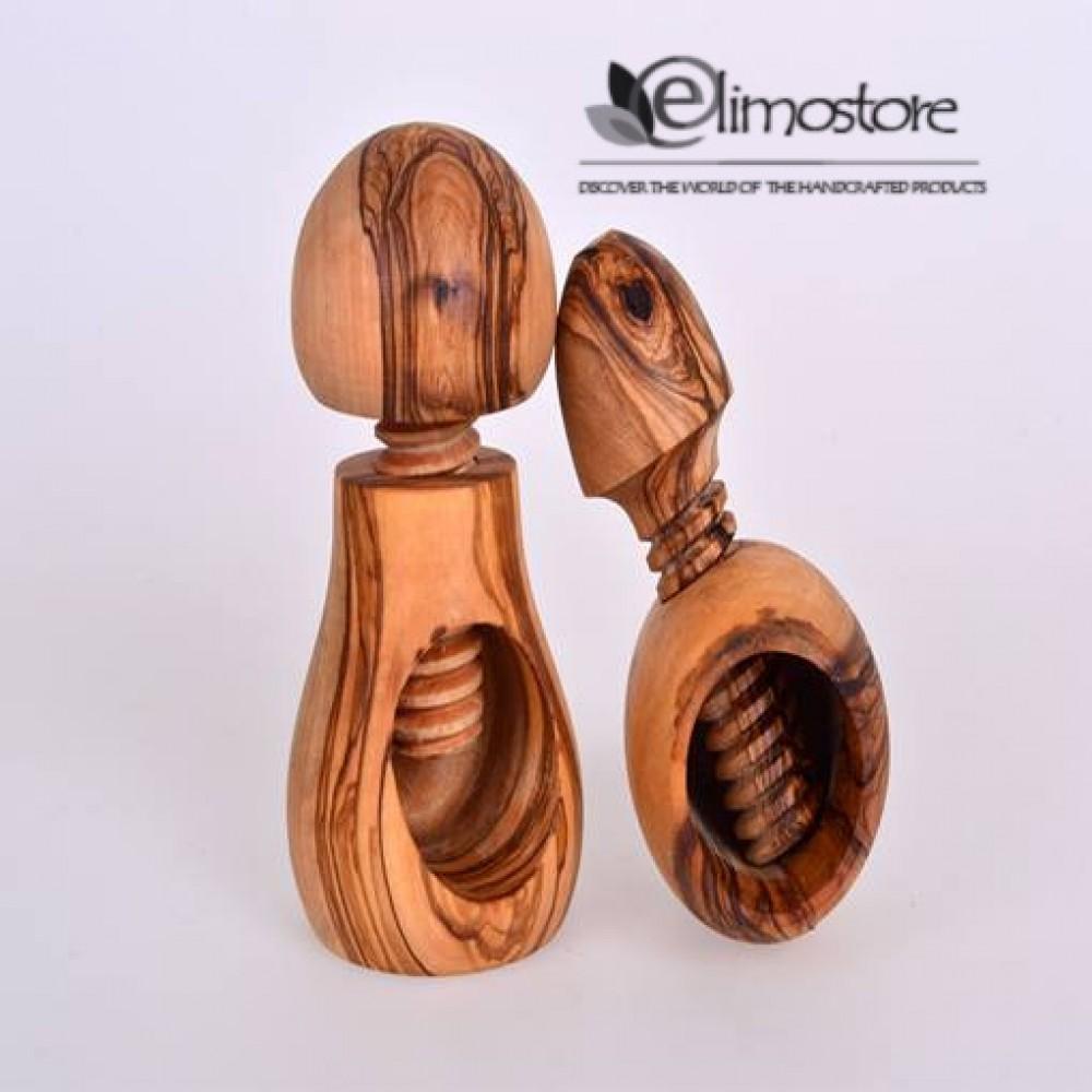 Olive Wood SCREW NUTCRACKER