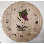 Oak cask Barrel Wall Clock, wooden Barrels  Head clocks laser