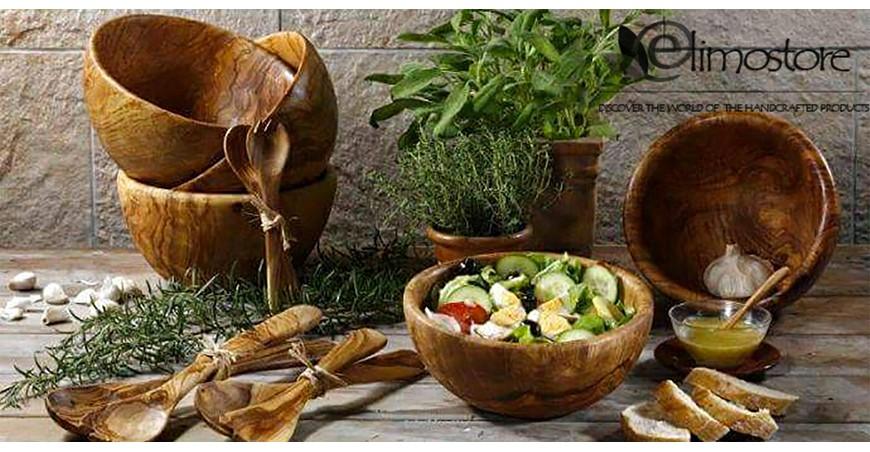 Artigianato in legno d'ulivo